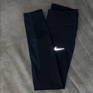 Nike DRI-FIT black Leggings with Mesh Sides